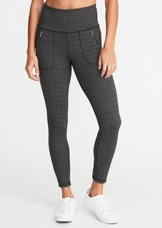 Old Navy High-Rise Zip-Pocket 7/8-Length Street Leggings for Women