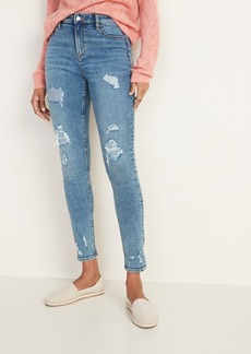 Old Navy High-Waisted Distressed Rockstar Super Skinny Jeans for Women