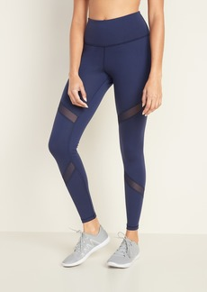 Old Navy High-Waisted Elevate Mesh-Trim Compression Leggings for Women