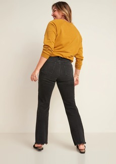 Old Navy High-Waisted Flare Black Cut-Off Ankle Jeans for Women