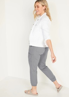 Old Navy High-Waisted Linen-Blend Tapered Jogger Pants for Women