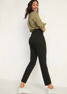 Old Navy High-Waisted O.G. Straight Black Jeans for Women