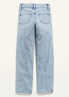 Old Navy High-Waisted O.G. Straight Built-In Tough Light-Wash Jeans for Girls