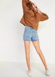 Old Navy High-Waisted O.G. Straight Ripped Cut-Off Jean Shorts for Women -- 3-inch inseam
