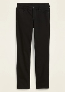 Old Navy High-Waisted Power Slim Straight Black Jeans for Women