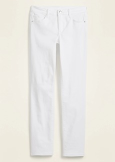Old Navy High-Waisted Power Slim Straight White Jeans for Women