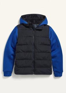 Old Navy Hooded Color-Block Hybrid Jacket for Boys