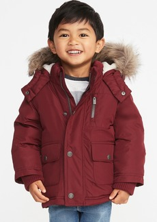 Old Navy Hooded Faux-Fur Trim Snow Jacket for Toddler Boys
