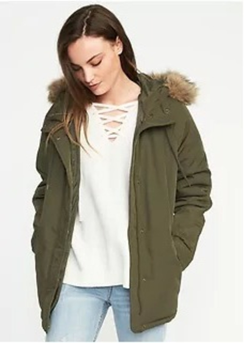 da3e3ec4acfd3 Old Navy Hooded Frost-Free Utility Parka for Women | Outerwear