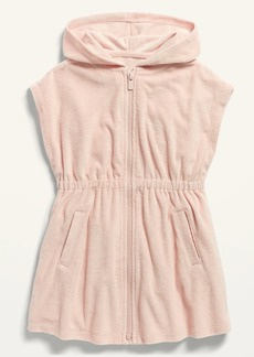 Old Navy Hooded Loop-Terry Zip-Front Swim Cover-Up for Toddler Girls