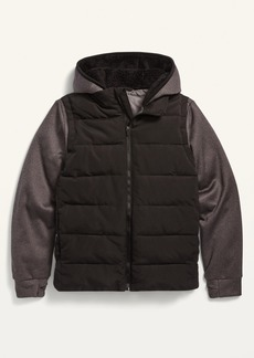 Old Navy Hooded Quilted Hybrid Jacket for Boys