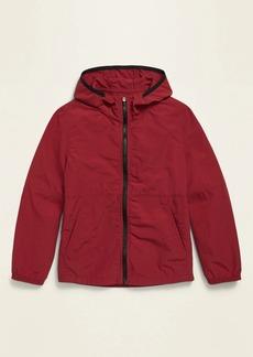 Old Navy Hooded Windbreaker Nylon Zip Jacket for Boys