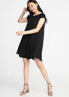 Jersey Flutter-Sleeve Swing Dress for Women