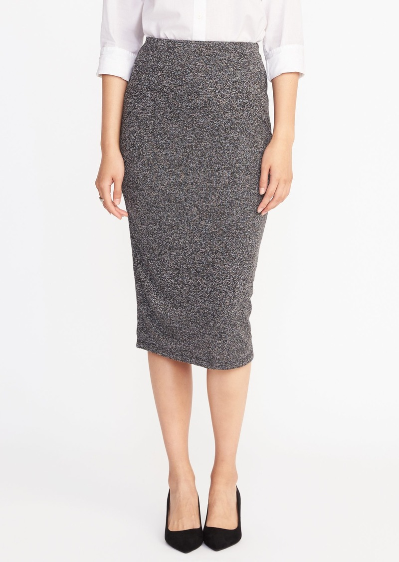 27e9a97eb3 SALE! Old Navy Jersey-Knit Midi Pencil Skirt for Women