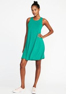 Jersey-Knit Sleeveless Swing Dress for Women