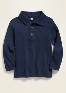 Old Navy Jersey Long-Sleeve Polo for Toddler Boys