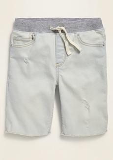 Old Navy Karate Rib-Knit Waist Distressed Built-In Flex Max Jean Shorts for Boys