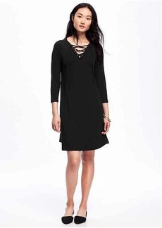 Lace-Front Swing Dress for Women