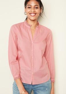 Old Navy Lace-Trim Split-Neck Shirt for Women