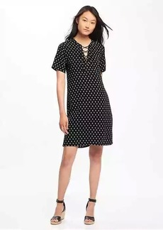 Old Navy Lace-Up Shift Dress for Women