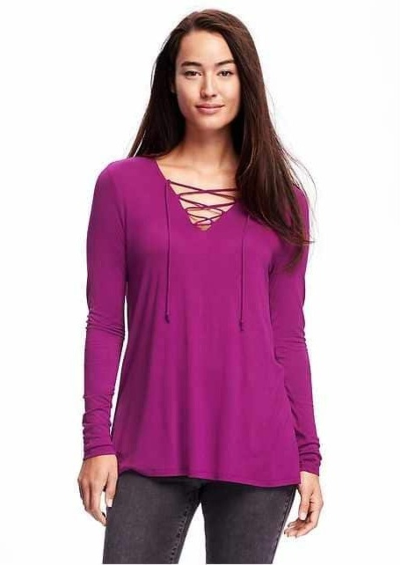2b0441db0ca0 Old Navy Lace-Up Swing Top for Women | Casual Shirts