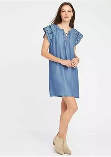 Lace-Up Tencel&#153 Shift Dress for Women