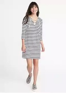 Old Navy Lace-Up-Yoke Shift Dress for Women