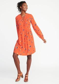 Old Navy Lace-Up-Yoke Swing Dress for Women