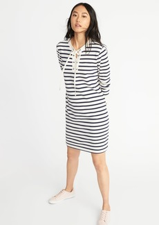 Lace-Yoke French-Terry Dress for Women