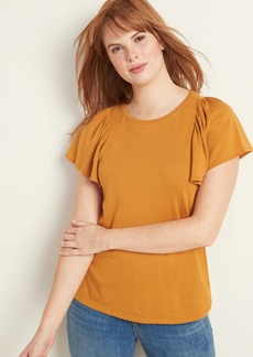 Old Navy Lantern-Sleeve Jersey-Knit Top for Women