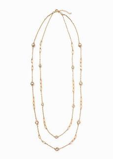 Old Navy Layered-Chain Crystal Necklace for Women