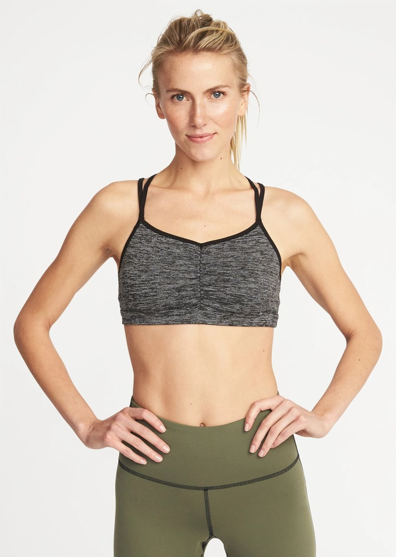398108dc85 Old Navy Light Support Strappy Sports Bra for Women