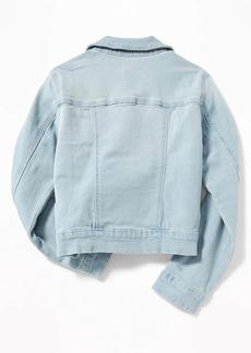 Old Navy Light-Wash Jean Jacket For Girls