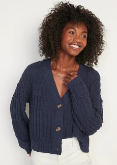 Old Navy Lightweight Cable-Knit Cardigan Sweater for Women