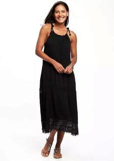 Lightweight Crochet-Trim Swing Dress for Women
