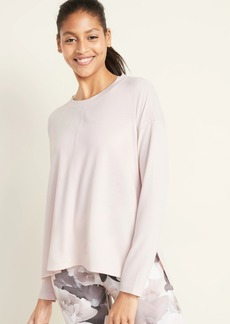 Old Navy Lightweight French Terry Side-Vent Top for Women