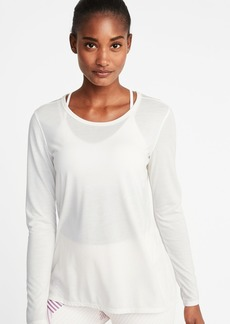Old Navy Lightweight Mesh-Back Performance Top for Women