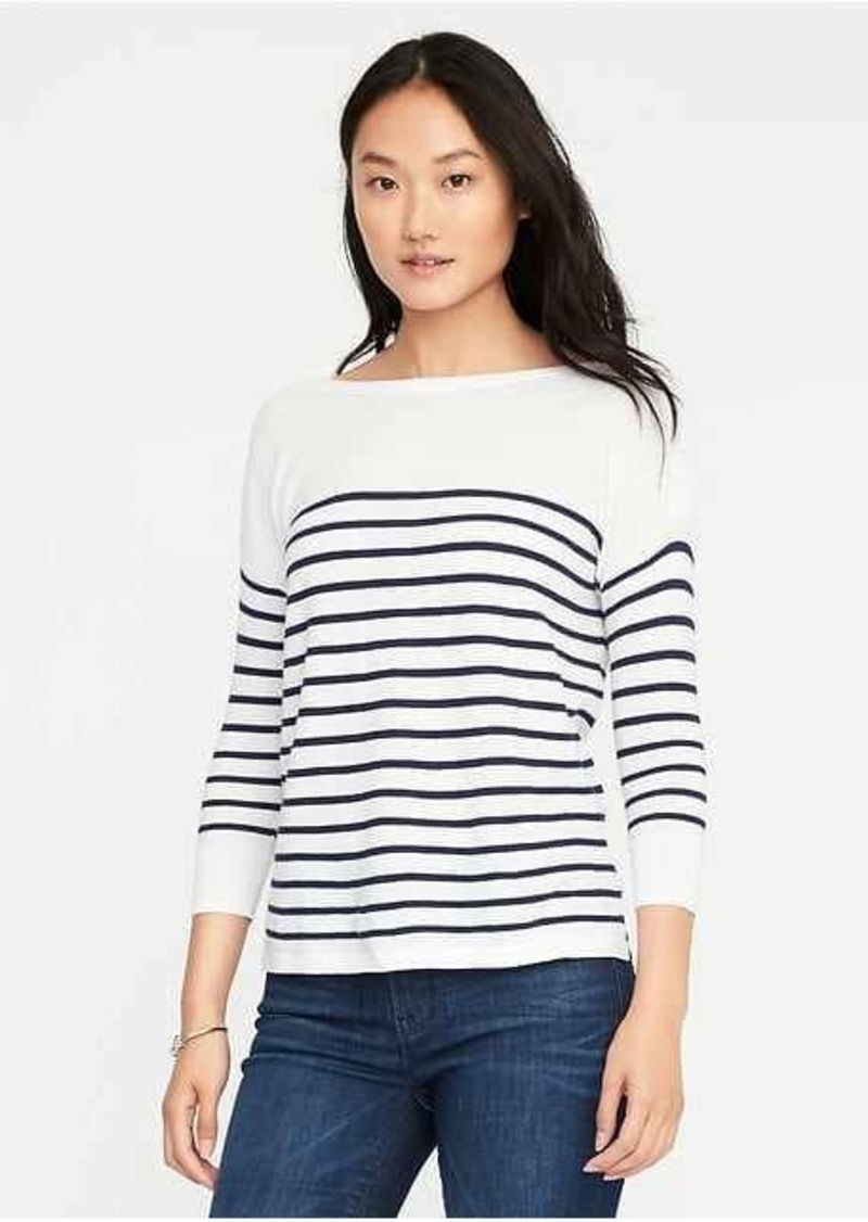 Old Navy Lightweight Textured Bateau Sweater for Women | Sweaters ...
