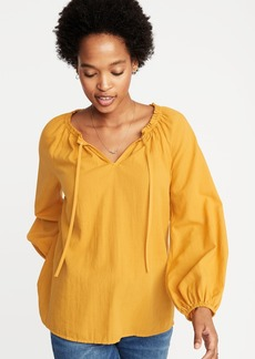 Old Navy Lightweight Tie-Neck Blouse for Women