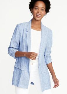 Old Navy Linen-Blend Blazer for Women