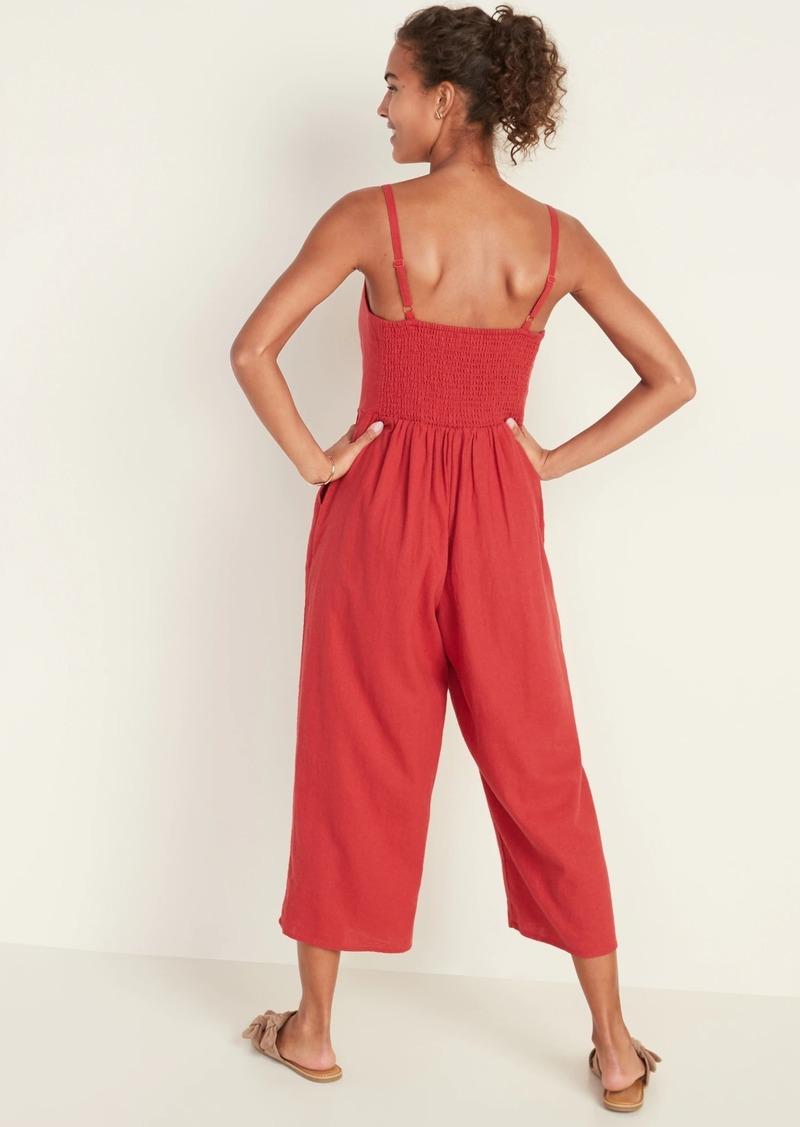 Old Navy Linen-Blend Cami Jumpsuit for Women