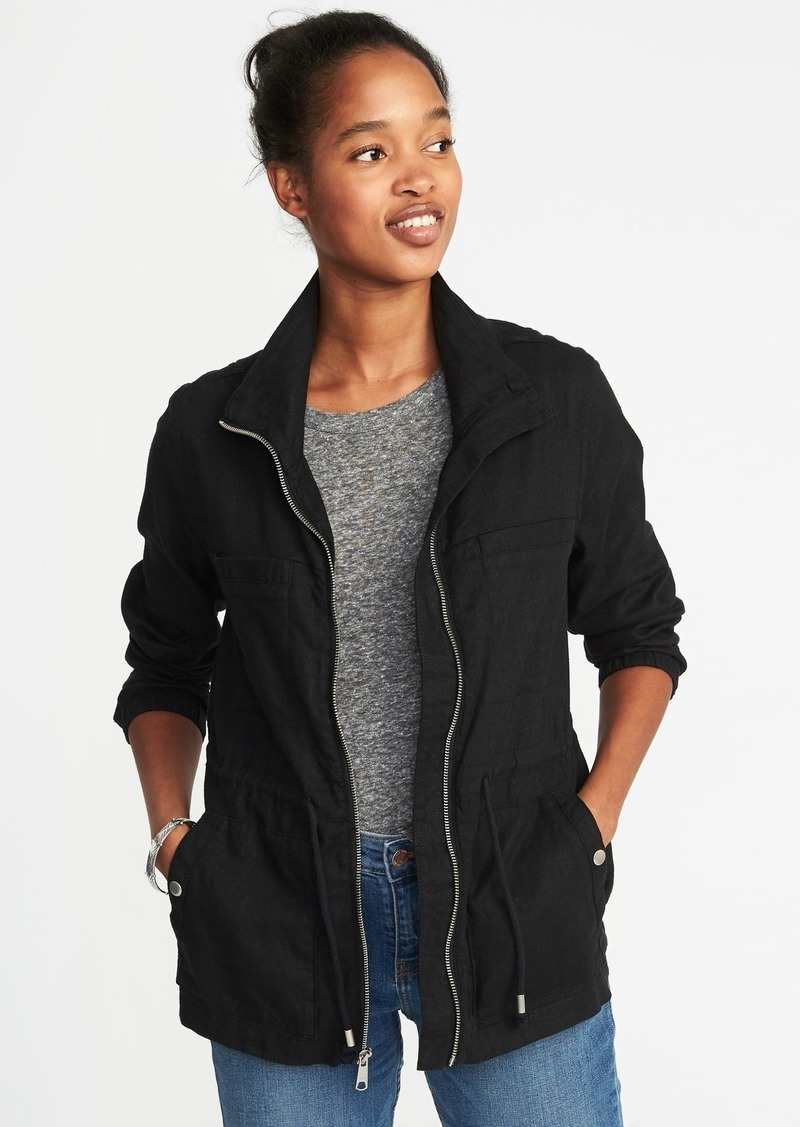 f9c2669757a Old Navy Linen-Blend Field Jacket for Women