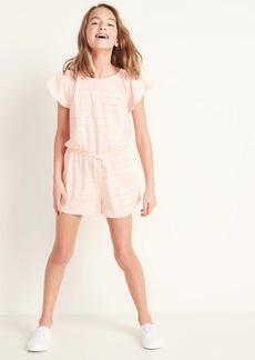 Old Navy Linen-Blend Jersey Romper for Girls