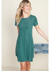 Old Navy Linen-Blend Jersey Swing Dress for Women
