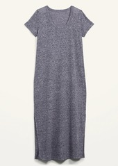 Old Navy Linen-Blend Maxi T-Shirt Shift Dress for Women