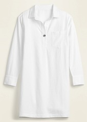 Old Navy Linen-Blend Shift Shirt Dress for Women