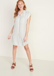 Old Navy Linen-Blend Striped Shirt Dress for Women