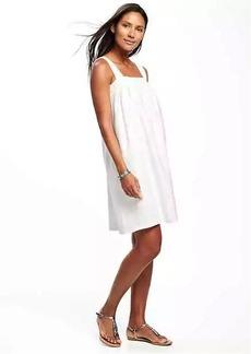 Linen-Blend Swing Dress for Women