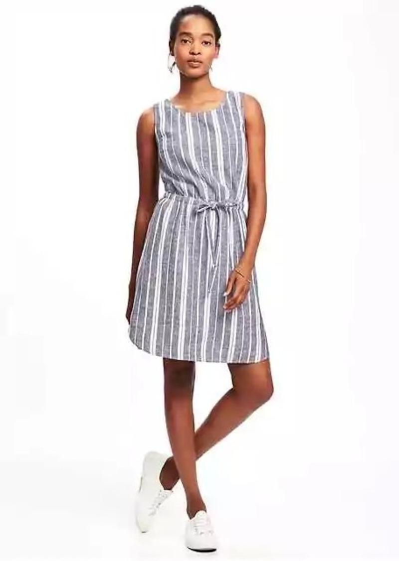 fe1cf5efdc Old Navy Linen-Blend Tie-Waist Dress for Women