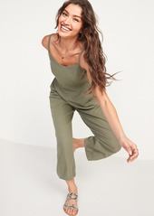 Old Navy Linen-Blend V-Neck Cami Jumspsuit for Women